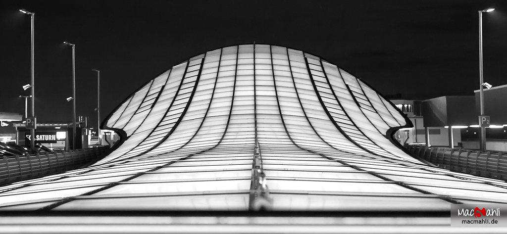 Glasdach der Stadtgalerie Schweinfurt