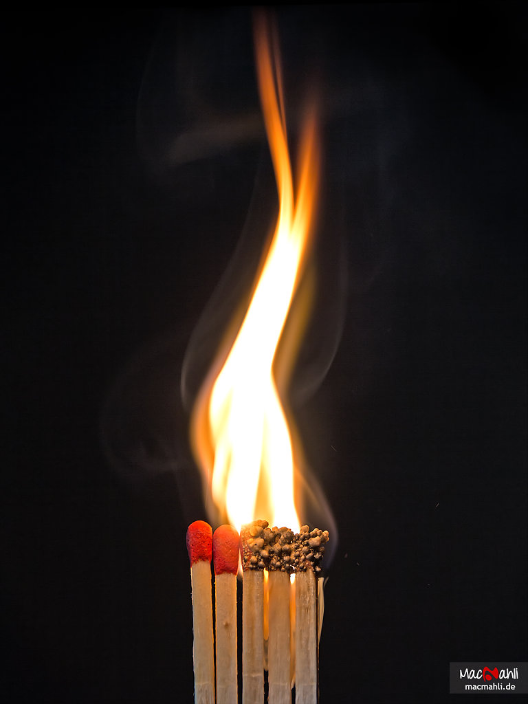 Chain reaction of matches